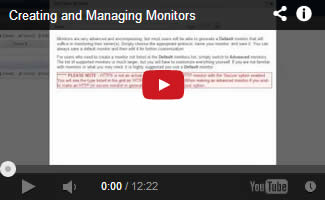 Creating and Managing Monitors