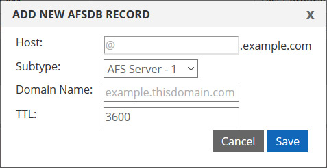 DNS AFSDB record