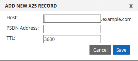 X25 record