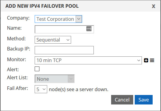 add your first failover pool
