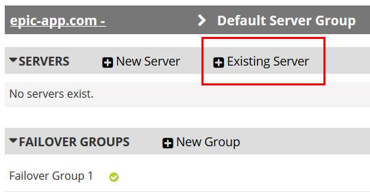 add existing server back