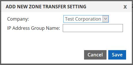 add zone transfer group