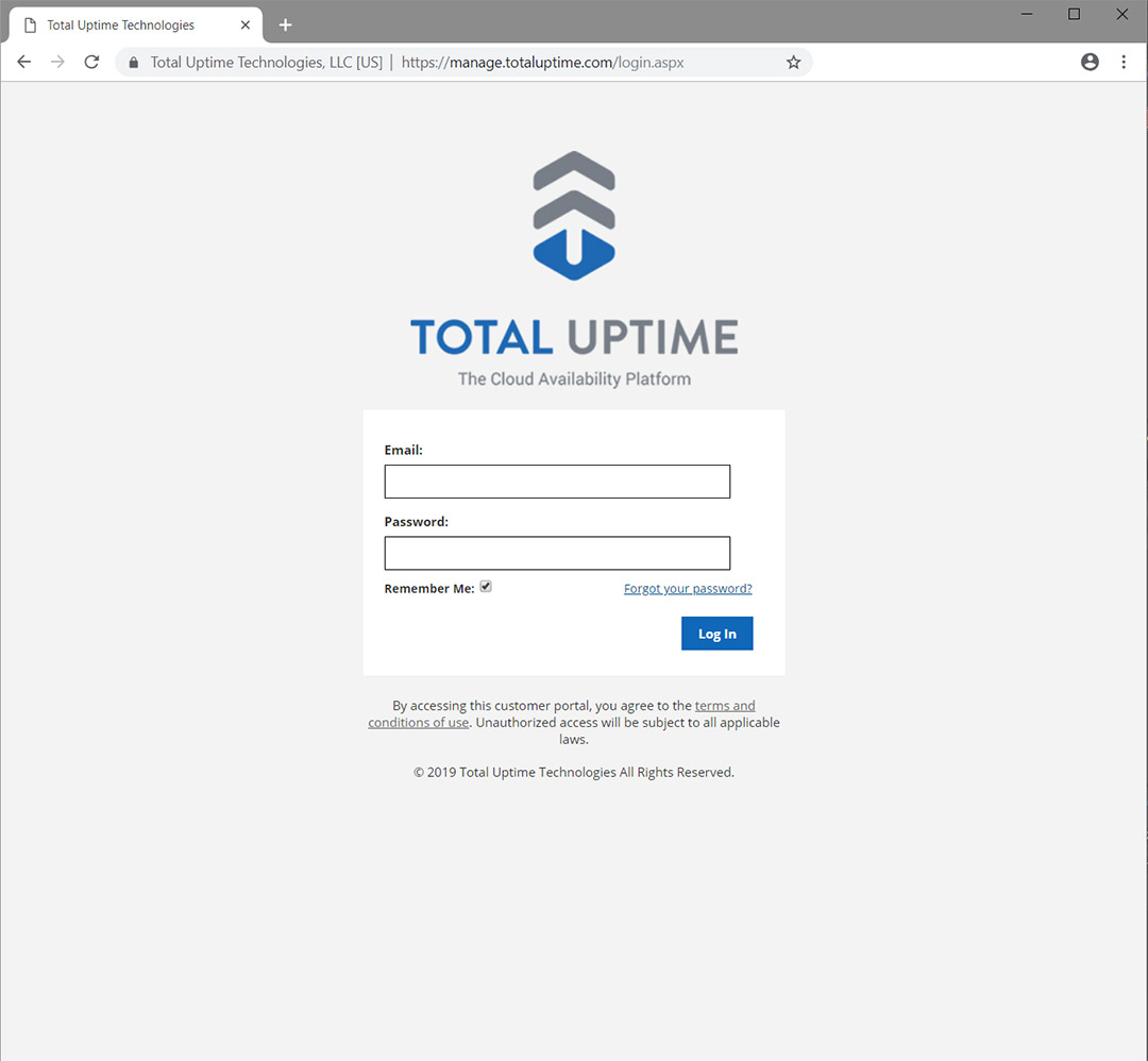 Cloud Platform Login Page