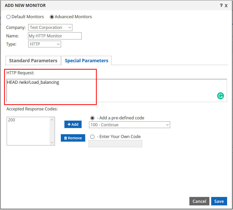 custom page setting