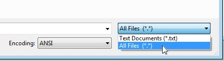 notepad all files