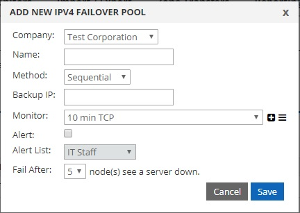 create failover pool