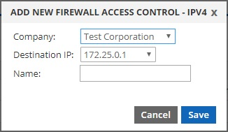add new firewall access control