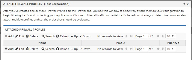 attach firewall profile