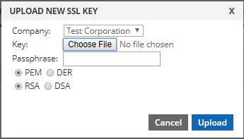upload ssl key