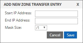 add new zone transfer entry