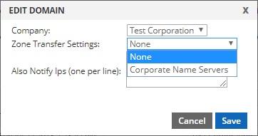 edit domain