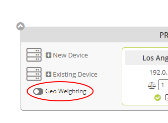 GEO Weighting Enable